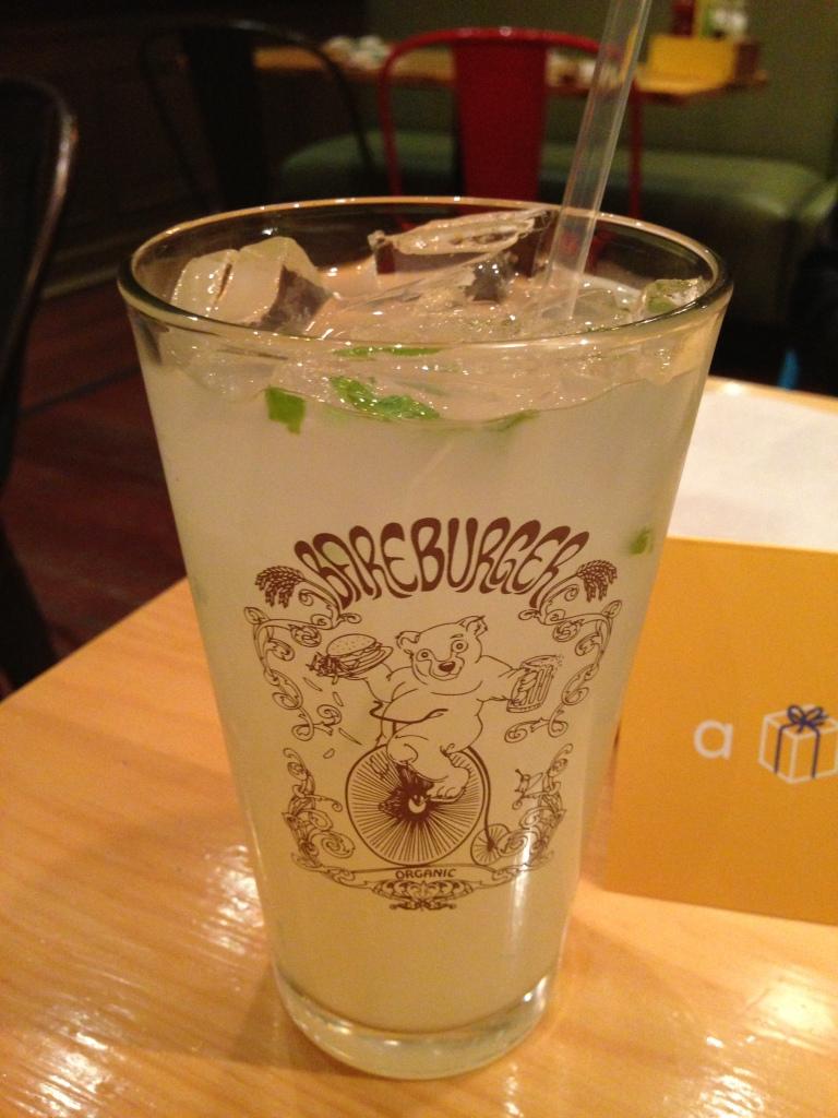 Photo cred: Alexa House-made Lemonade prepared with fresh lemons, organic sugar and mint sprig