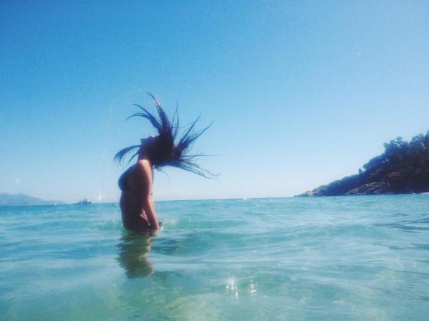 Cooling off in the Mediterranean Isola del Giglio, Tuscano, Italia