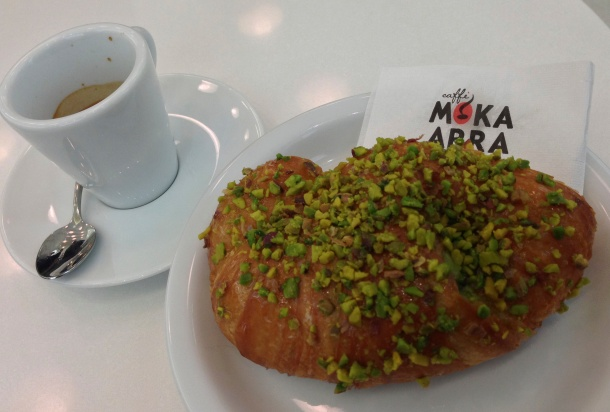 Pistachio Croissant at Fedora Pastry Shop Firenze, Italia Photo by Alexa