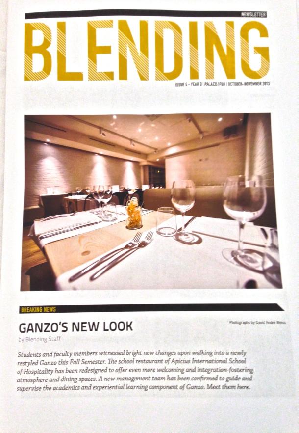Blending Newsletter Cover