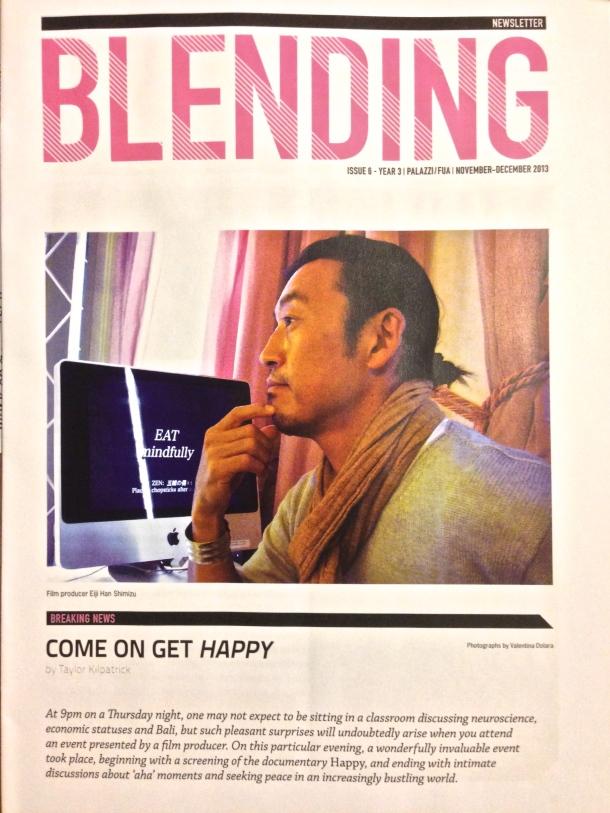 November - December 2013 Blending Newsletter Cover
