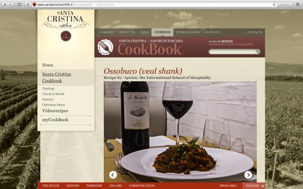 Ossobuco recipe on the S. Cristina Cookbook homepage