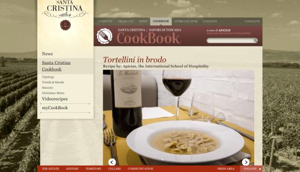 Tortellini in Brodo recipe on the S. Cristina Cookbook homepage