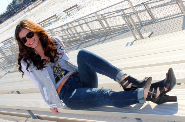 Alexa Mellardo - varsity jacket
