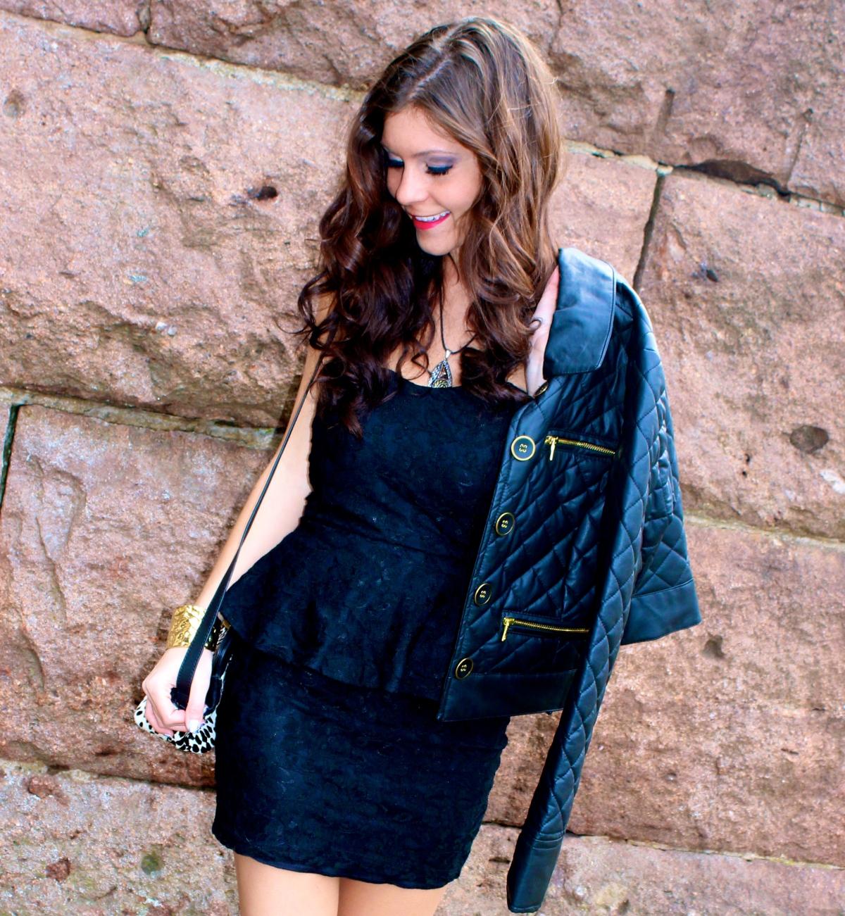 Lace Peplum Dress - Alexa Mellardo