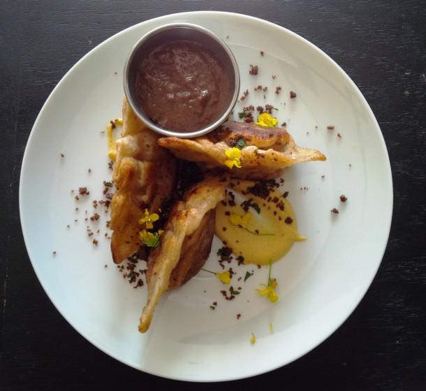 River Bar - Pan Fried Corn Beef & Cabbage Dumplings (2)