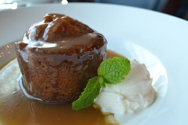 The Varano Group's Pumpkin Sticky Toffee Pudding with Vanilla Gelato